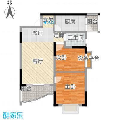 青河世家72.51㎡9号楼4号房面积7251m户型