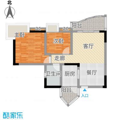 青河世家64.70㎡9号楼2号房面积6470m户型