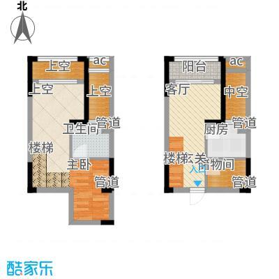 优跃城38.53㎡一批次3/4号楼标准层I8跃层户型