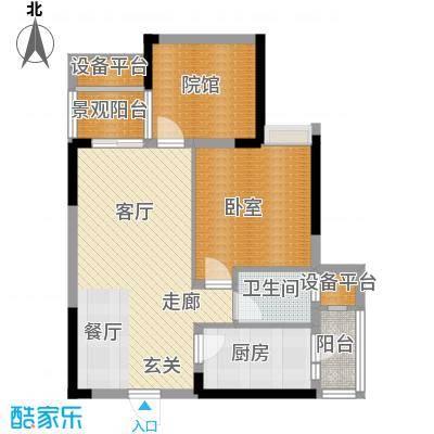 美丽泽京68.03㎡一期高层标准层A2户型