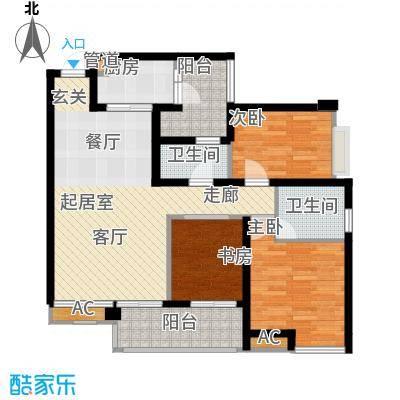 朵力尚美国际92.80㎡14幢楼1单元面积9280m户型