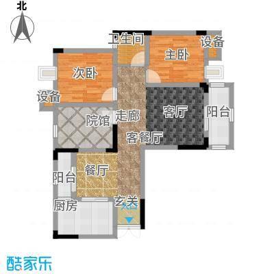 鲁能领秀城78.08㎡二期6、9号楼标准层D户型