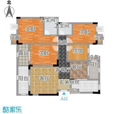 鲁能领秀城100.64㎡二期2、4、7、8、11、12、18号楼标准层F4户型