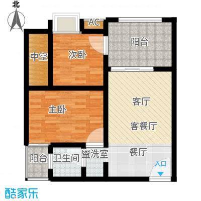 重庆红枫林国际度假村61.72㎡一期2、6、7号楼标准层A1户型