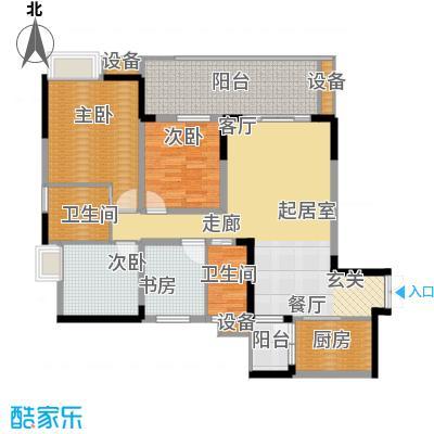 金科云湖天都117.07㎡岸香1号楼1面积11707m户型