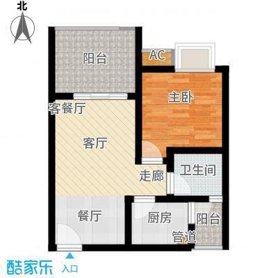 重庆红枫林国际度假村49.10㎡一期9号楼标准层B3户型