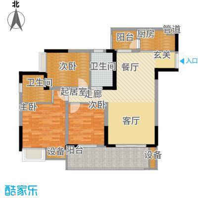 金科云湖天都94.83㎡1号楼6号房面积9483m户型