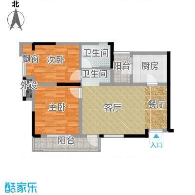 中国铁建公园115963.31㎡一期1、2幢标准层B户型