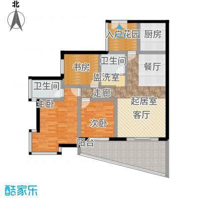 海棠晓月蓝滨城107.46㎡C区D面积10746m户型