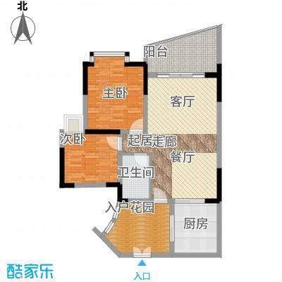 海棠晓月蓝滨城80.00㎡C面积8000m户型