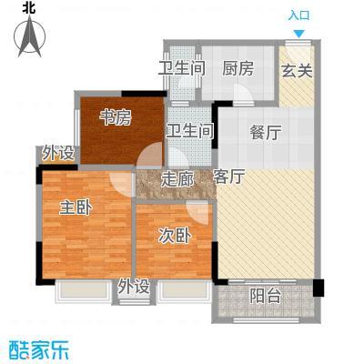 中国铁建公园115978.23㎡一期1、2幢标准层C户型