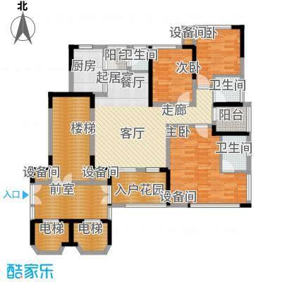 南方书苑湖畔89.06㎡1期1栋1单元标准层2号房3室户型