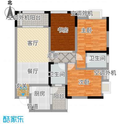 润丰水尚观景台高层组团89.00㎡二期35号楼标准层C5户型