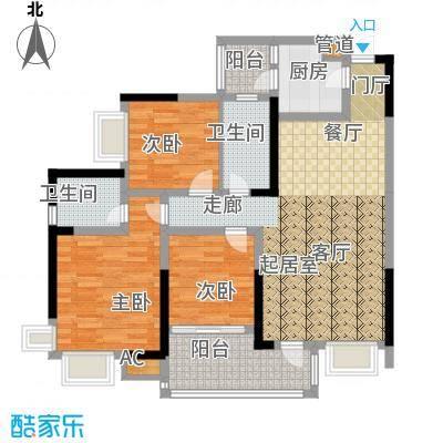 巨成龙湾88.86㎡1号楼1号房面积8886m户型