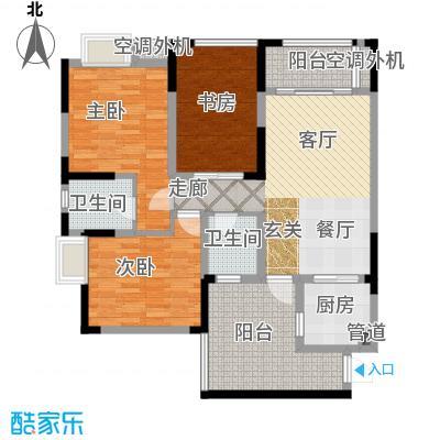 润丰水尚观景台高层组团87.00㎡二期35号楼标准层C4户型