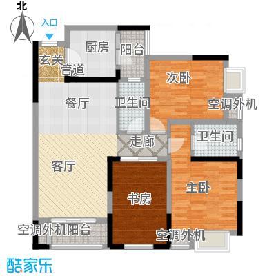 润丰水尚观景台高层组团91.00㎡二期35号楼标准层C7户型