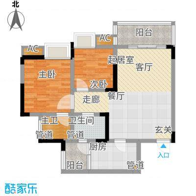金悦湾71.92㎡一期3号楼标准层C户型