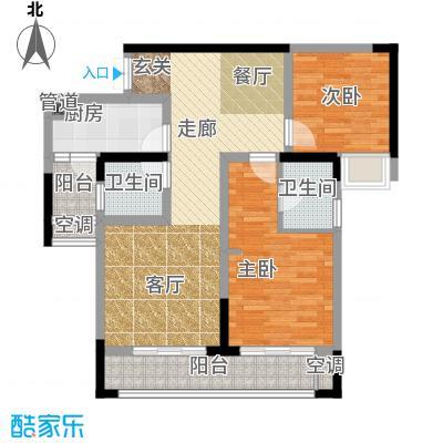 润丰水尚观景台高层组团85.00㎡二期35号楼标准层C1户型