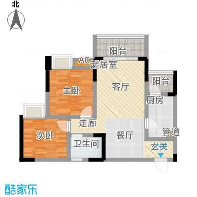 金悦湾68.35㎡2号楼标准层1、3号房D户型