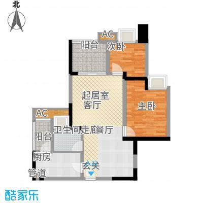 金悦湾66.94㎡一期3号楼标准层B户型