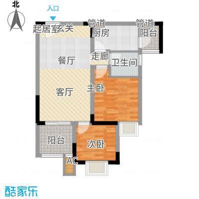 金悦湾79.36㎡一期1号楼标准层E户型