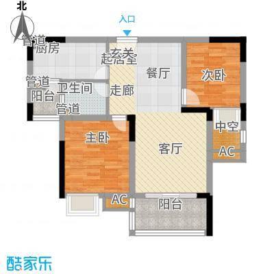 金悦湾81.84㎡一期2号楼标准层E户型