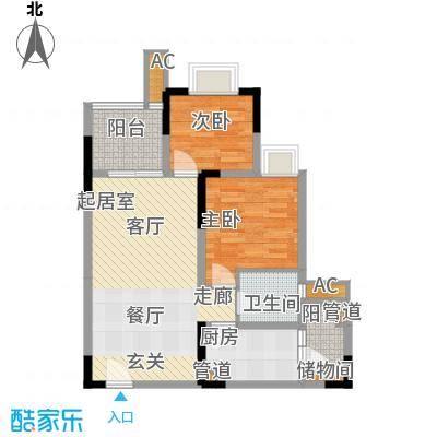 金悦湾64.66㎡一期1号楼标准层B户型