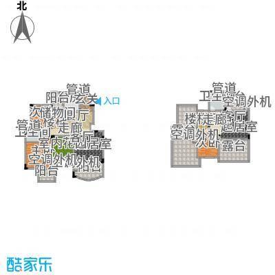 香漫溪岸176.96㎡一期1号楼1单元1楼1号A3室户型