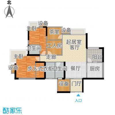 中渝山顶道国宾城114.10㎡三期3、4号楼标准层G2户型