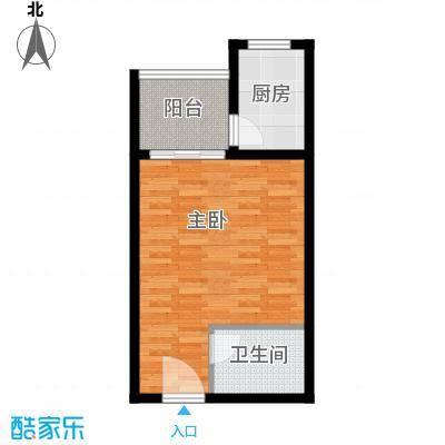 平宇林泉雅舍42.70㎡二期高层标准层B户型