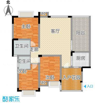 渝水坊二期96.39㎡一期8号楼3单元6层1号房3室户型