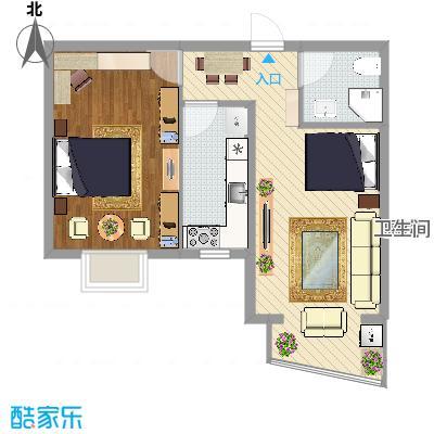 77.35平米一室两厅