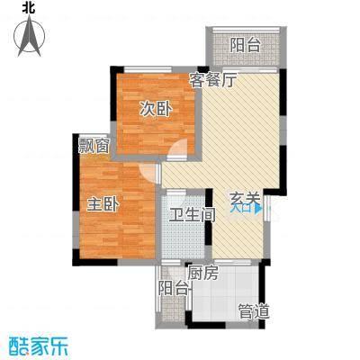 拓新香国城一期83.07㎡一期高层18/19号楼标准层A户型