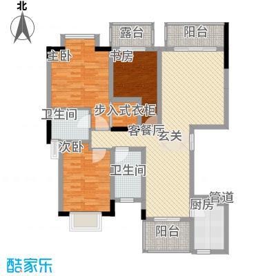 拓新香国城一期120.56㎡一期13号楼标准层C1户型