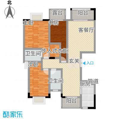 拓新香国城一期127.78㎡一期12号楼标准层C户型