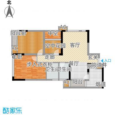 北城国际中心88.51㎡4期逸兴阁5面积8851m户型