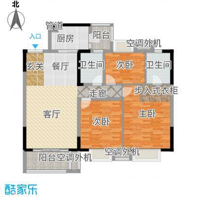 招商江湾城109.00㎡7-3-C面积10900m户型