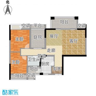 招商江湾城99.00㎡6-1-B面积9900m户型