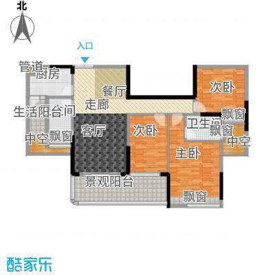 雅居乐国际花园111.29㎡一期14栋面积11129m户型