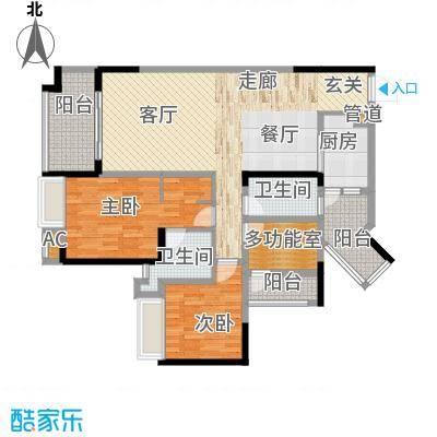 国际社区海悦府109.00㎡一期5/6/7号楼标准层7/6号房户型