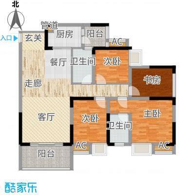 国际社区海悦府108.00㎡一期2/3/4号楼标准层户型