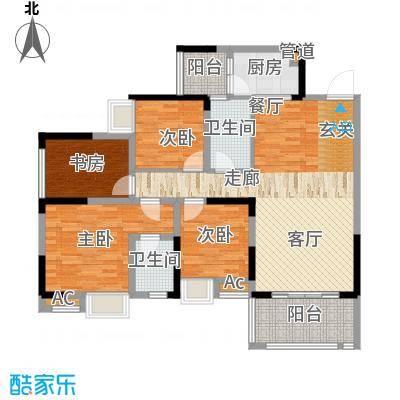 国际社区海悦府105.00㎡一期2/3/4号楼标准层4号房户型