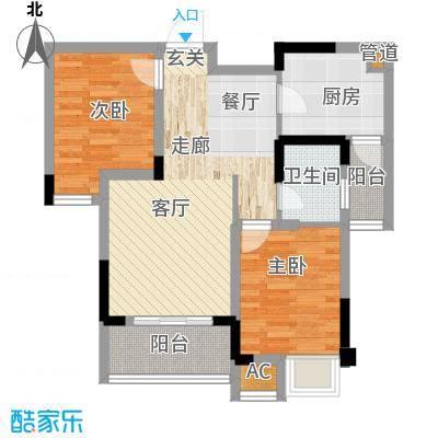 国际社区海悦府74.00㎡一期8、9号楼标准层4/5号房户型
