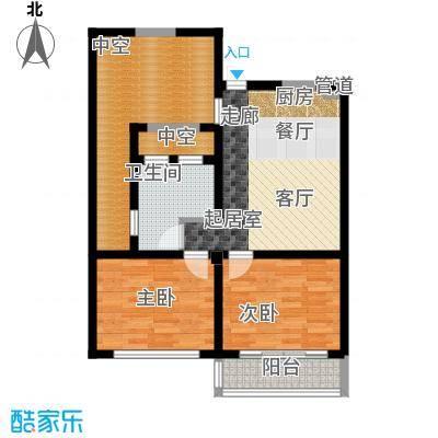 世茂怒放海76.73㎡世茂・怒放海D1-F海子洋房户型