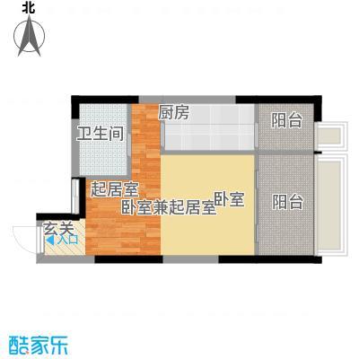 亚太商谷38.92㎡三期17栋标准层面积3892m户型