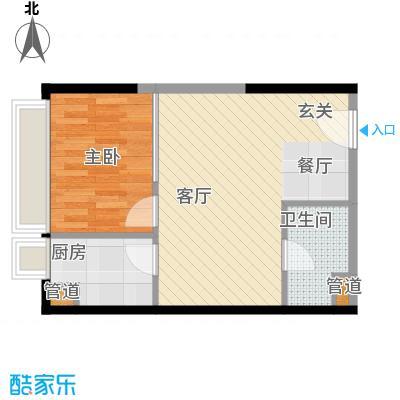 亚太商谷37.54㎡三期6栋标准层3面积3754m户型