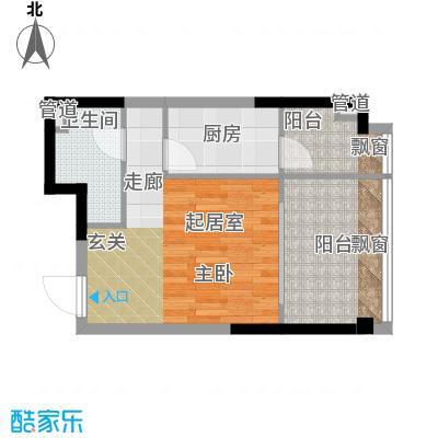 亚太商谷34.82㎡三期17栋标准层面积3482m户型