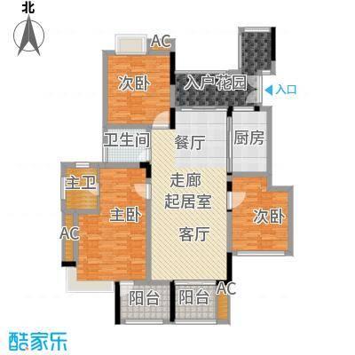 斌鑫中央国际公园108.39㎡B区B1/B2号楼标准层A5户型