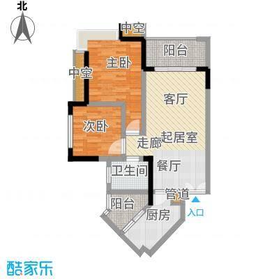 斌鑫中央国际公园66.74㎡二期24号楼标准层D户型