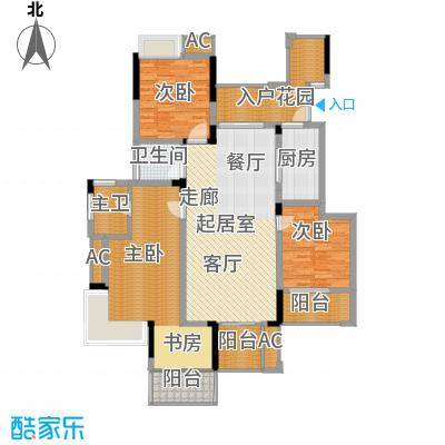 斌鑫中央国际公园116.96㎡B区B1/B2号楼标准层A3户型